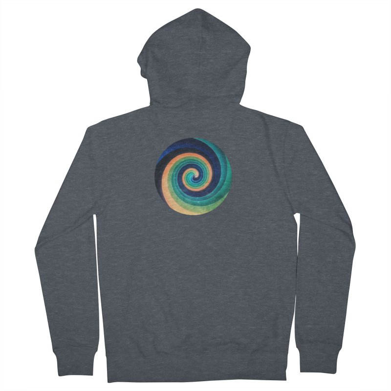 Abstract night swirl Women's French Terry Zip-Up Hoody by fruityshapes's Shop
