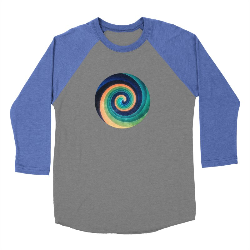 Abstract night swirl Men's Baseball Triblend Longsleeve T-Shirt by fruityshapes's Shop