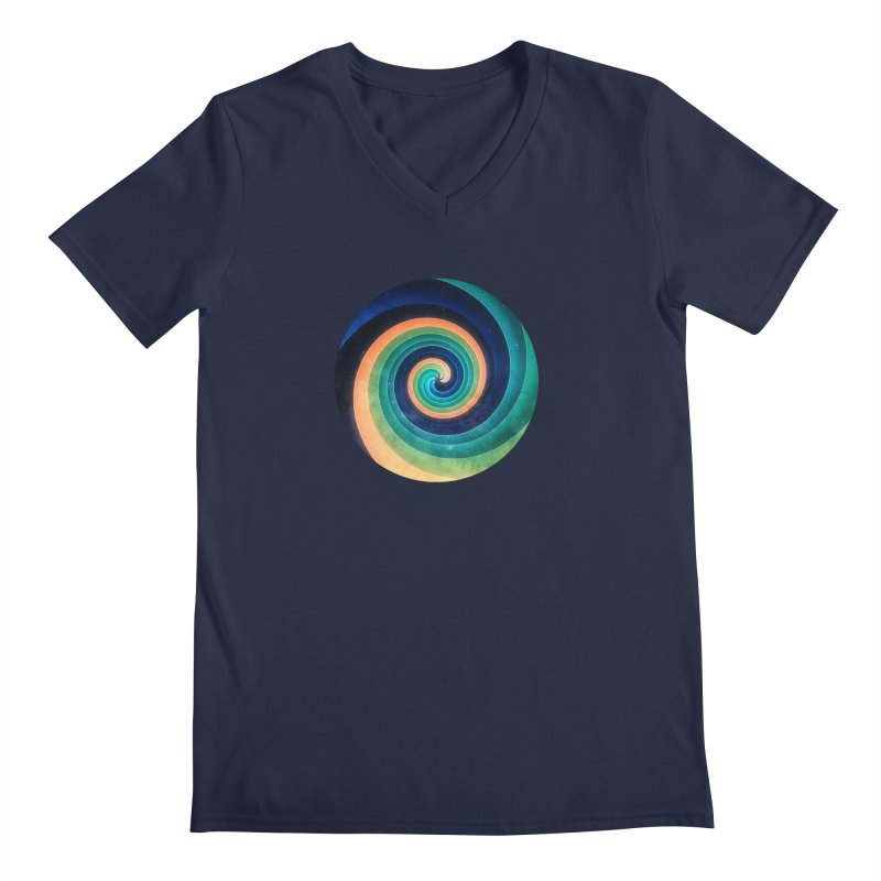 Abstract night swirl Men's Regular V-Neck by fruityshapes's Shop