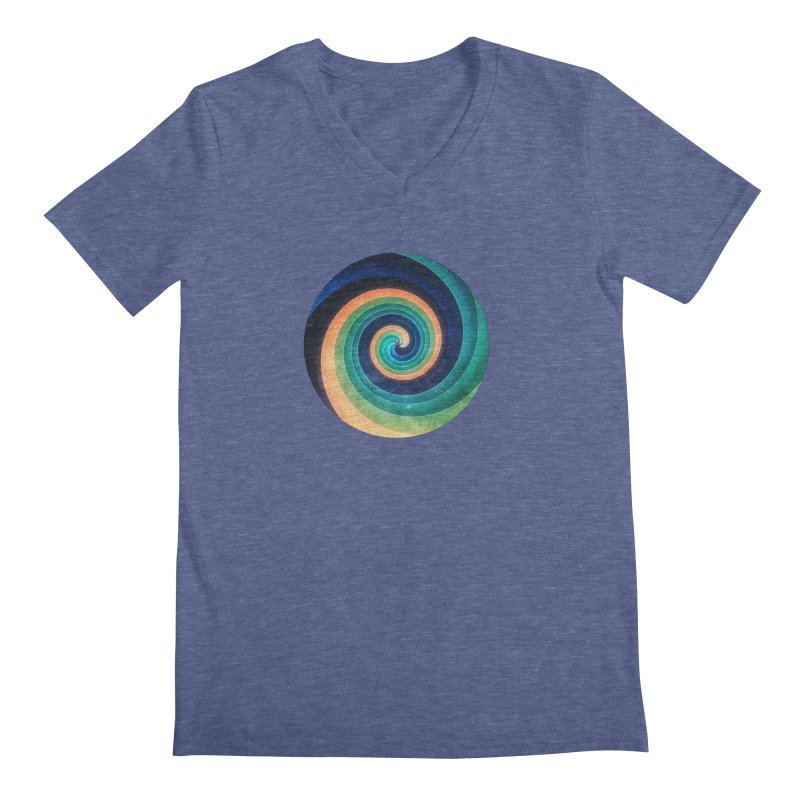 Abstract night swirl Men's Regular V-Neck by fruityshapes's Shop