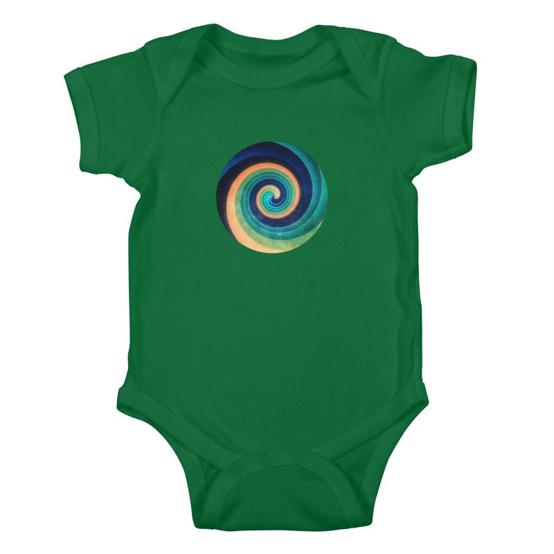 Abstract night swirl Kids Baby Bodysuit by fruityshapes's Shop