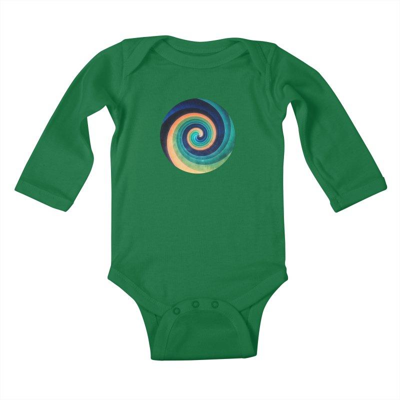 Abstract night swirl Kids Baby Longsleeve Bodysuit by fruityshapes's Shop