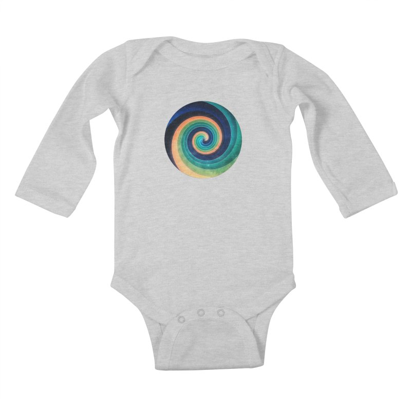 Abstract night swirl Kids Baby Longsleeve Bodysuit by fruityshapes's Shop