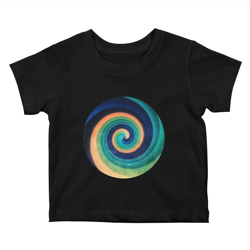Abstract night swirl Kids Baby T-Shirt by fruityshapes's Shop