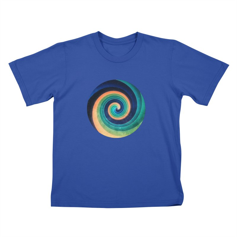Abstract night swirl Kids T-Shirt by fruityshapes's Shop
