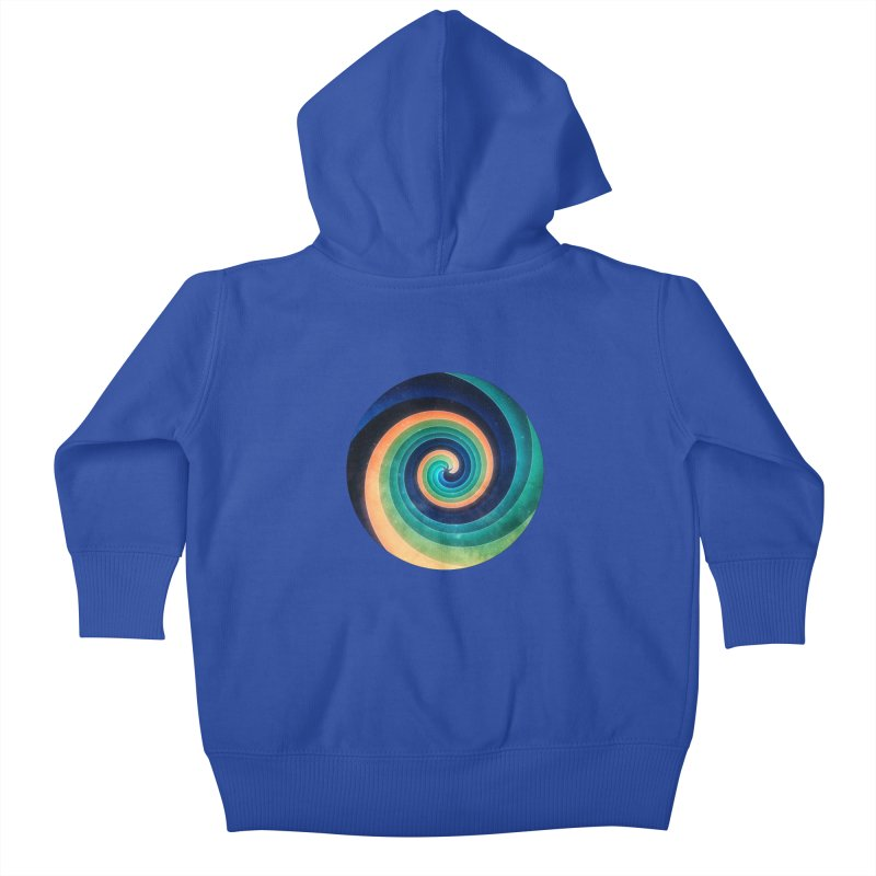 Abstract night swirl Kids Baby Zip-Up Hoody by fruityshapes's Shop
