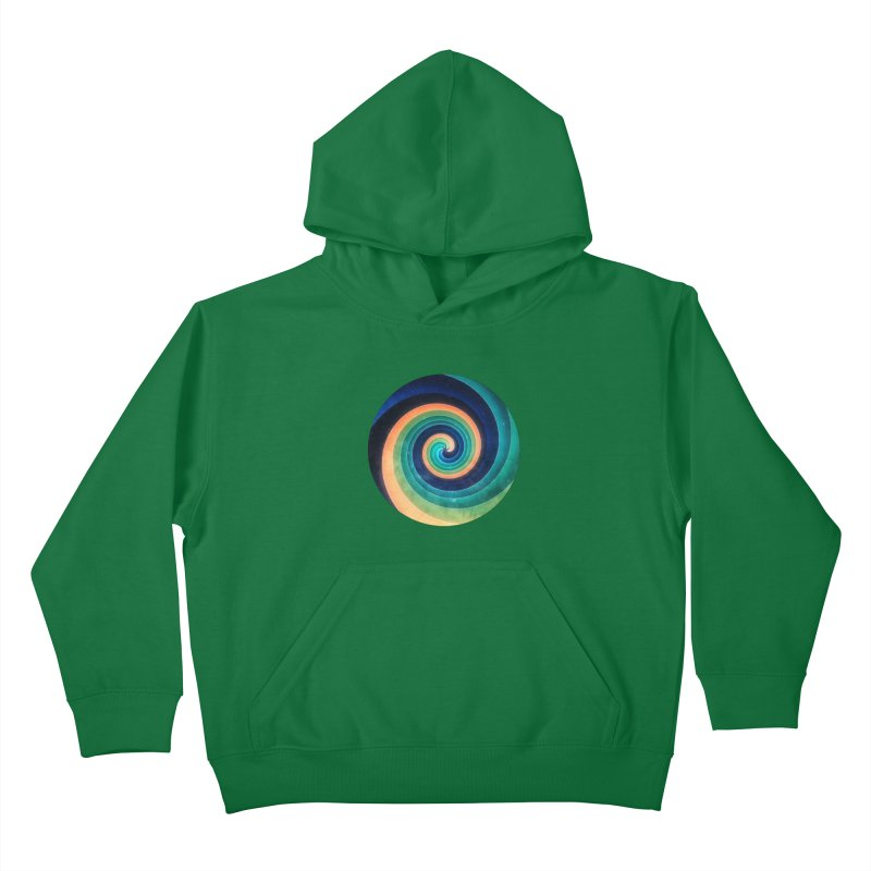 Abstract night swirl Kids Pullover Hoody by fruityshapes's Shop