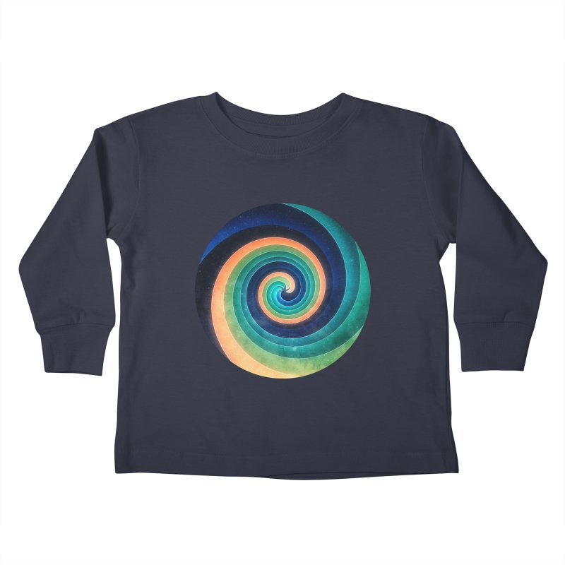 Abstract night swirl Kids Toddler Longsleeve T-Shirt by fruityshapes's Shop