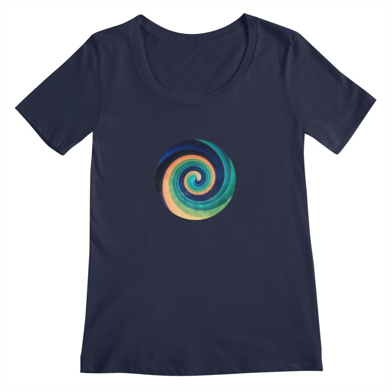 Abstract night swirl Women's Regular Scoop Neck by fruityshapes's Shop