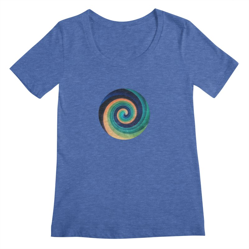 Abstract night swirl Women's Scoopneck by fruityshapes's Shop