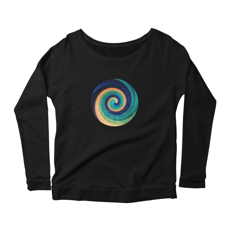 Abstract night swirl Women's Scoop Neck Longsleeve T-Shirt by fruityshapes's Shop