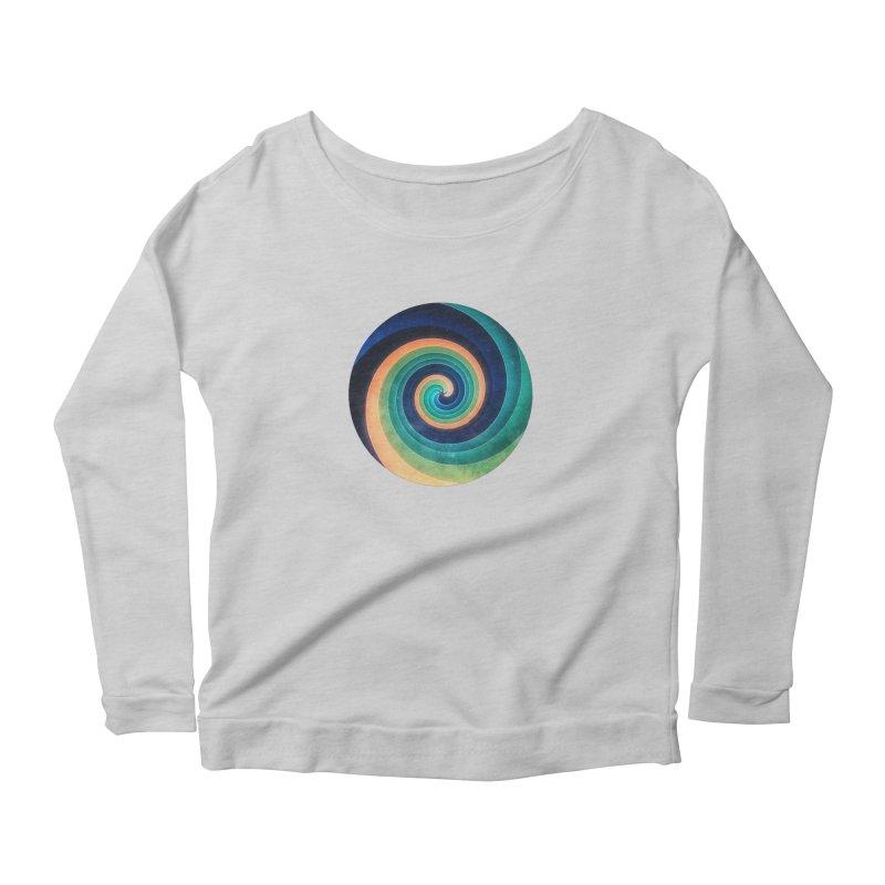 Abstract night swirl Women's Scoop Neck Longsleeve T-Shirt by fruityshapes's Shop