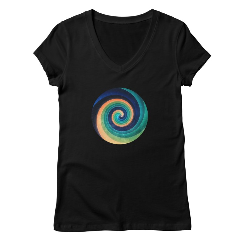 Abstract night swirl Women's Regular V-Neck by fruityshapes's Shop