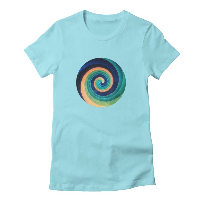 Abstract night swirl Women's Fitted T-Shirt by fruityshapes's Shop
