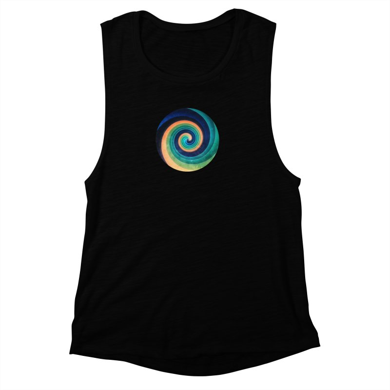 Abstract night swirl Women's Muscle Tank by fruityshapes's Shop