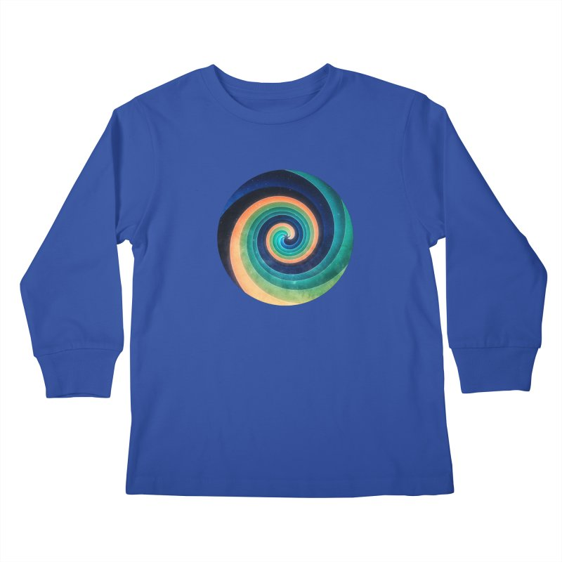 Abstract night swirl Kids Longsleeve T-Shirt by fruityshapes's Shop