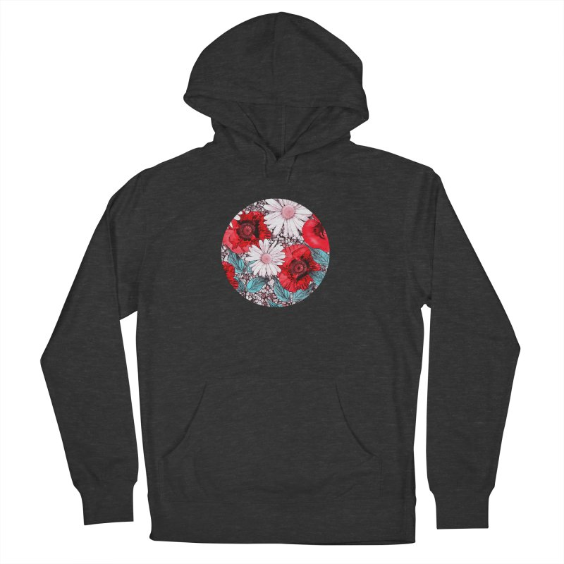 Red Poppies and Margarites Women's French Terry Pullover Hoody by fruityshapes's Shop