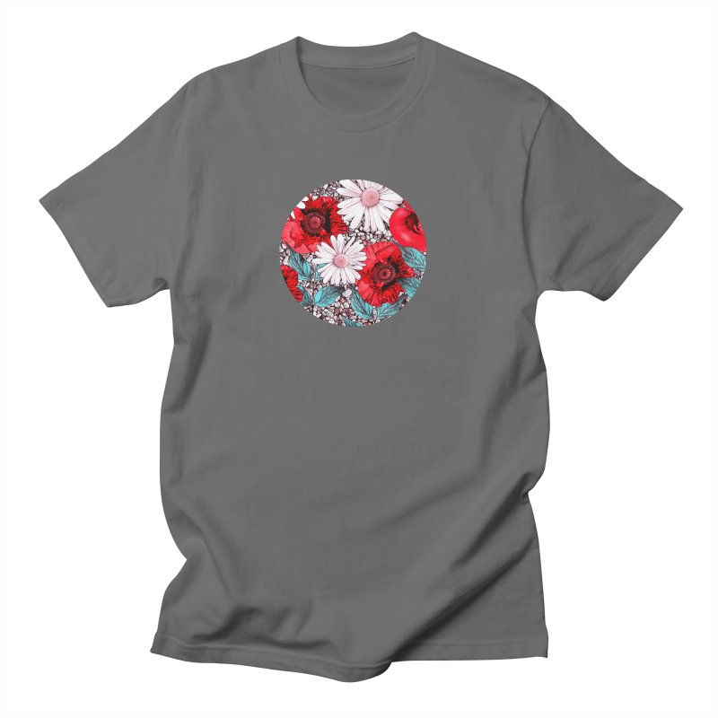 Red Poppies and Margarites Women's T-Shirt by fruityshapes's Shop
