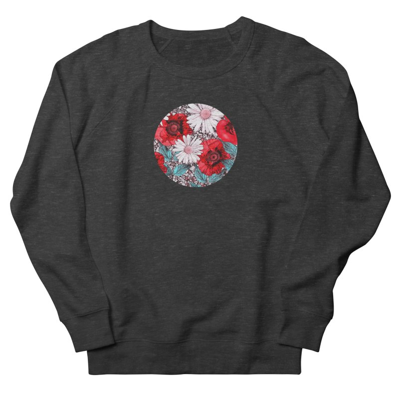 Red Poppies and Margarites Women's French Terry Sweatshirt by fruityshapes's Shop