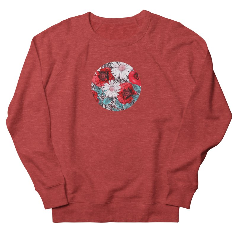 Red Poppies and Margarites Women's Sweatshirt by fruityshapes's Shop