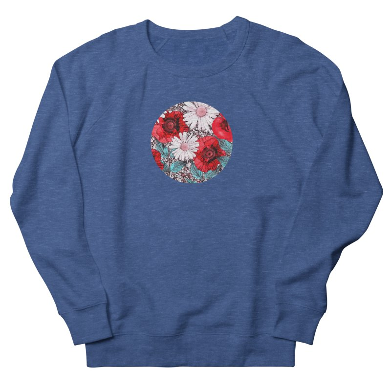 Red Poppies and Margarites Men's Sweatshirt by fruityshapes's Shop