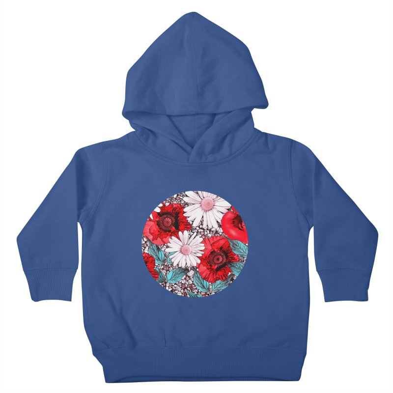 Red Poppies and Margarites Kids Toddler Pullover Hoody by fruityshapes's Shop