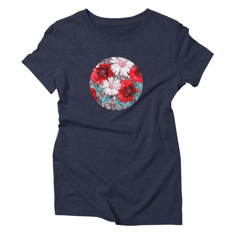 Red Poppies and Margarites Women's Triblend T-Shirt by fruityshapes's Shop