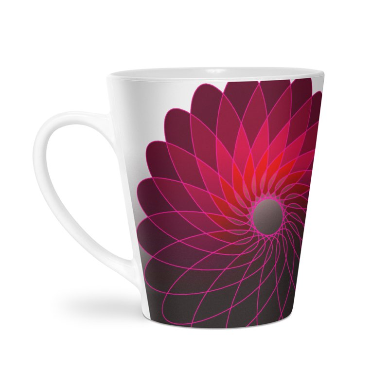 Red shining gyro Accessories Latte Mug by fruityshapes's Shop