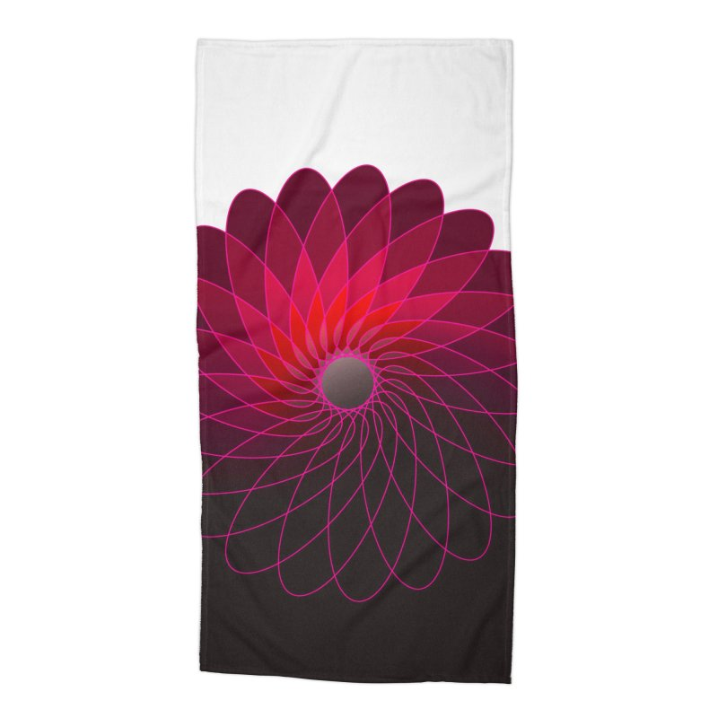 Red shining gyro Accessories Beach Towel by fruityshapes's Shop