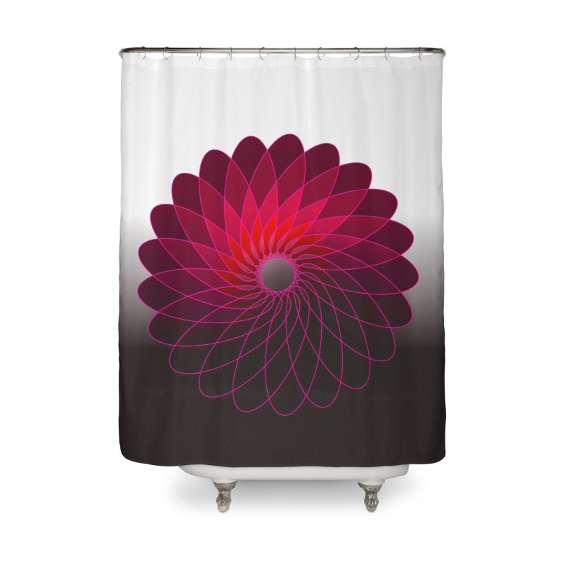 Red shining gyro Home Shower Curtain by fruityshapes's Shop