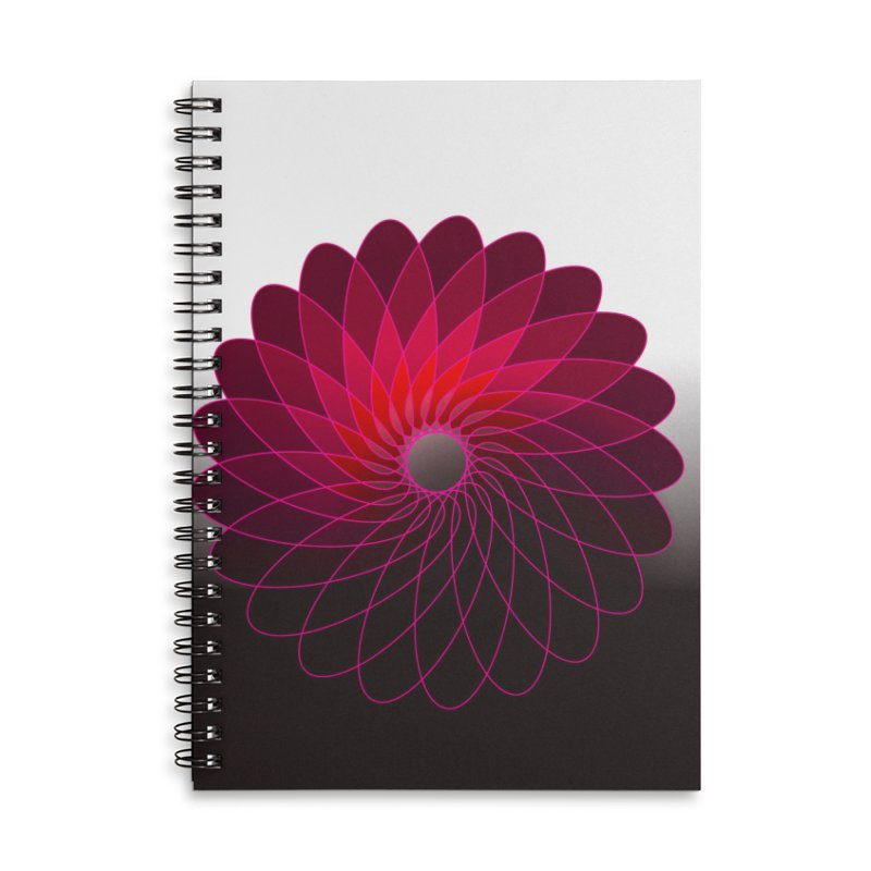 Red shining gyro Accessories Lined Spiral Notebook by fruityshapes's Shop