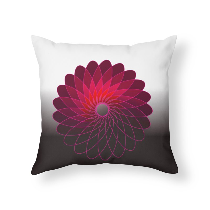 Red shining gyro Home Throw Pillow by fruityshapes's Shop