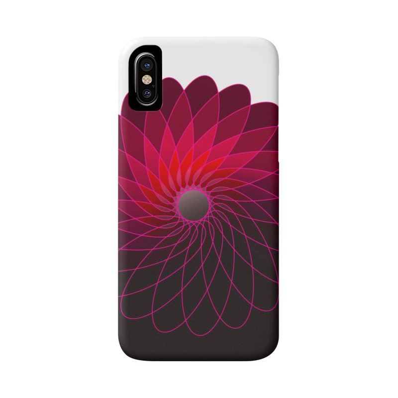Red shining gyro Accessories Phone Case by fruityshapes's Shop