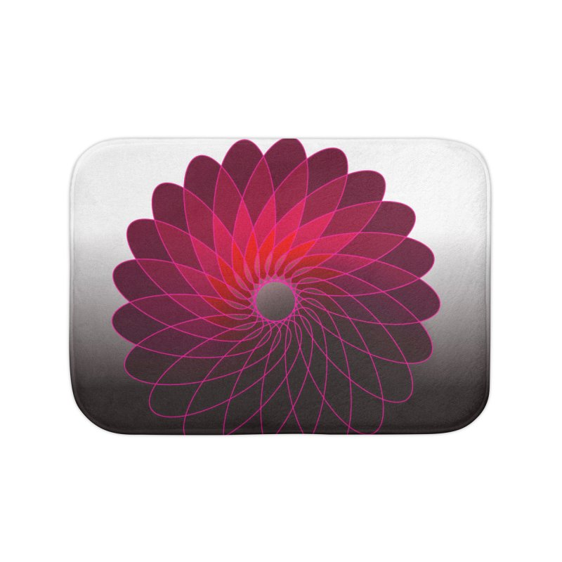 Red shining gyro Home Bath Mat by fruityshapes's Shop