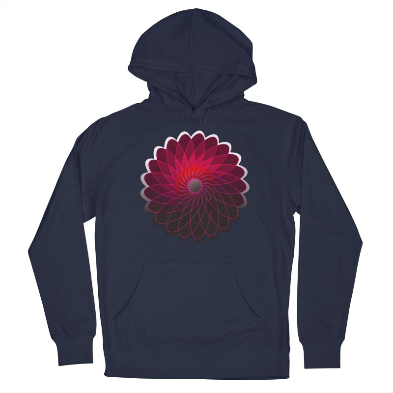 Red shining gyro Men's French Terry Pullover Hoody by fruityshapes's Shop