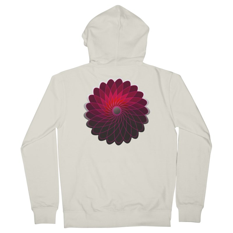 Red shining gyro Men's French Terry Zip-Up Hoody by fruityshapes's Shop