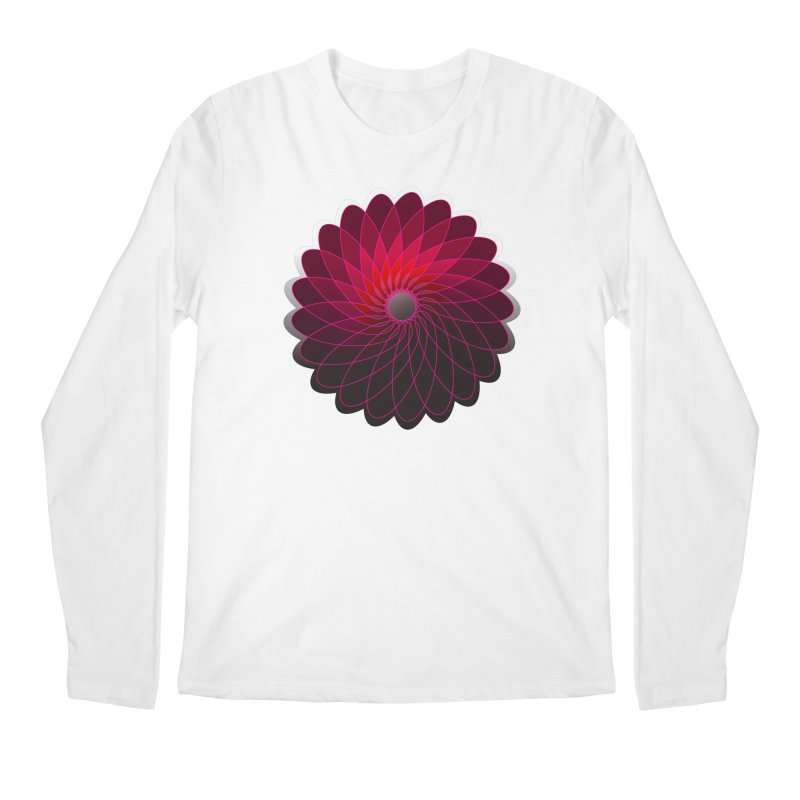 Red shining gyro Men's Regular Longsleeve T-Shirt by fruityshapes's Shop