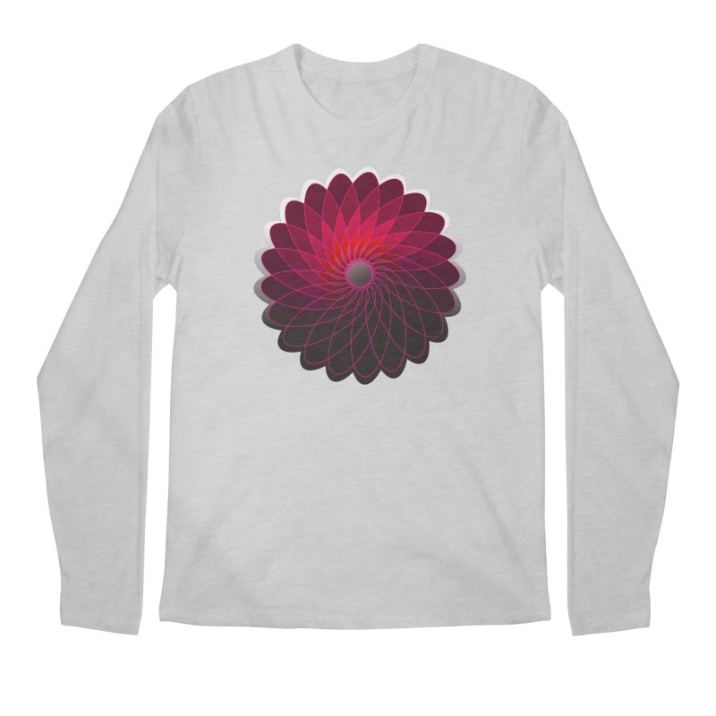 Red shining gyro Men's Regular Longsleeve T-Shirt by fruityshapes's Shop