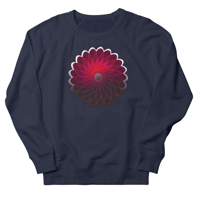Red shining gyro Men's French Terry Sweatshirt by fruityshapes's Shop