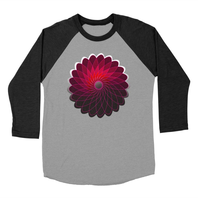 Red shining gyro Men's Baseball Triblend Longsleeve T-Shirt by fruityshapes's Shop
