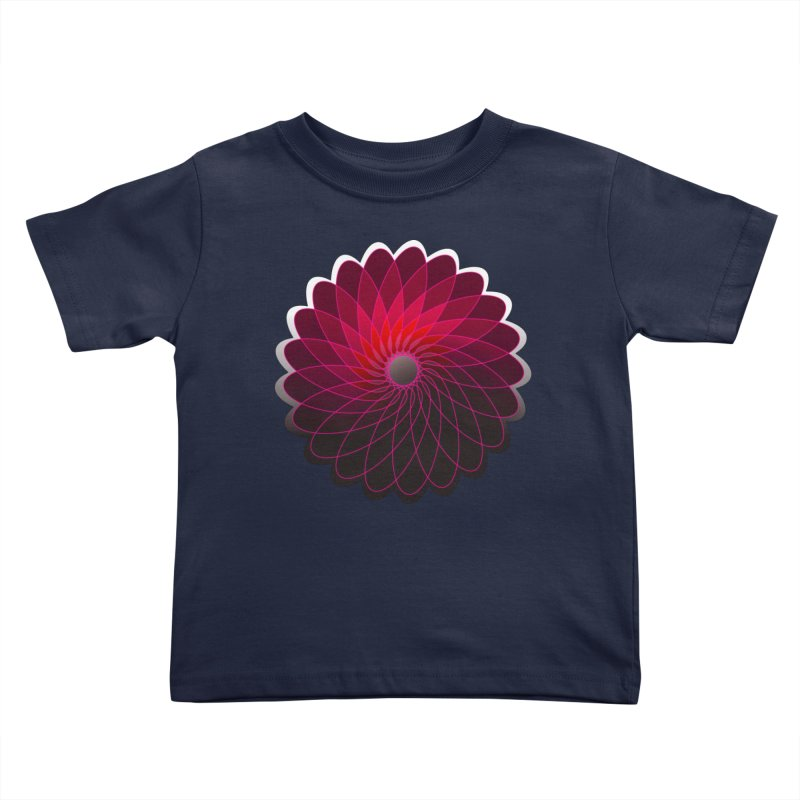 Red shining gyro Kids Toddler T-Shirt by fruityshapes's Shop