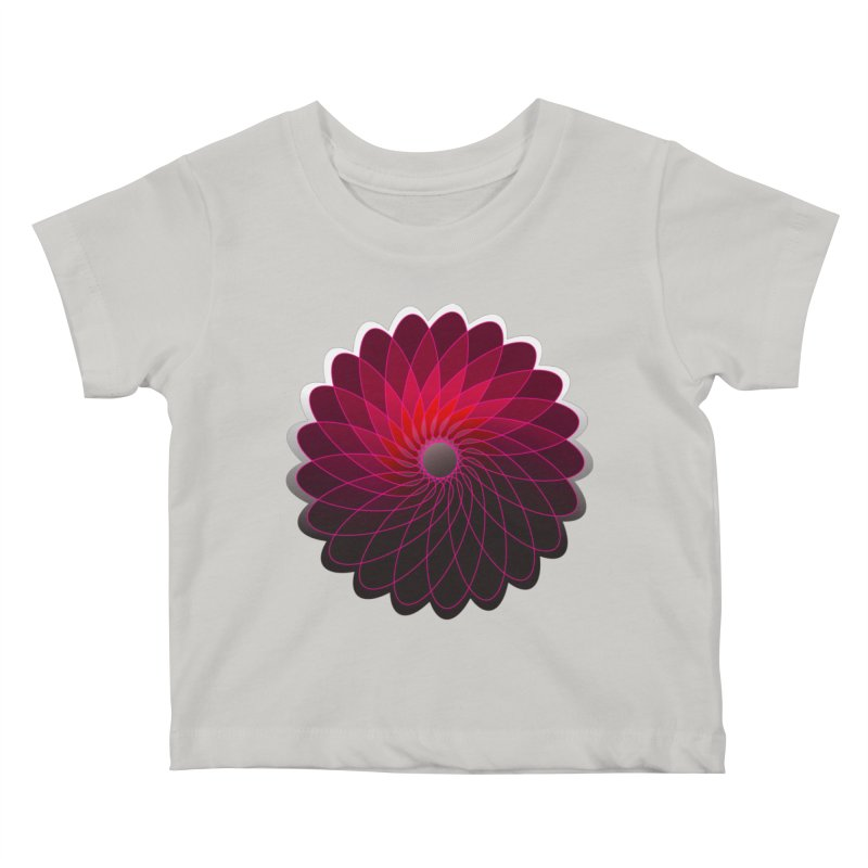 Red shining gyro Kids Baby T-Shirt by fruityshapes's Shop