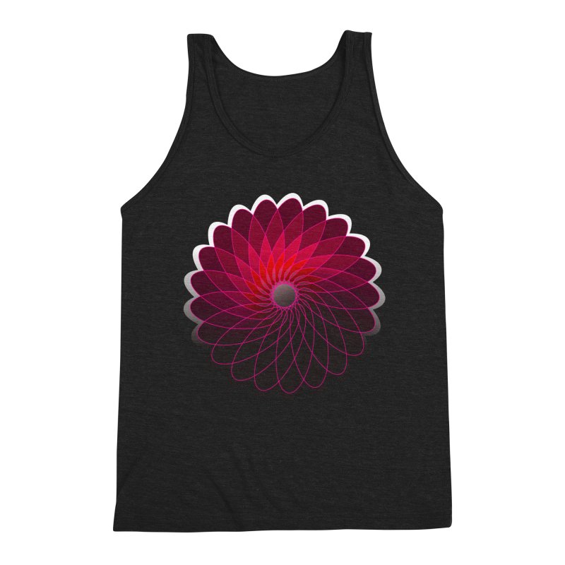 Red shining gyro Men's Triblend Tank by fruityshapes's Shop