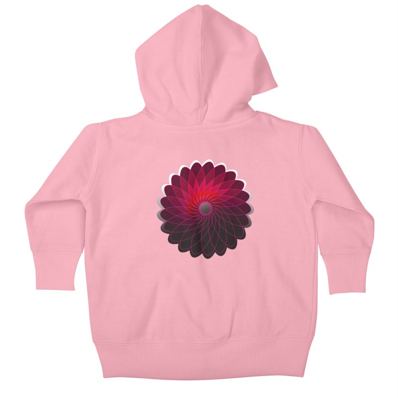 Red shining gyro Kids Baby Zip-Up Hoody by fruityshapes's Shop