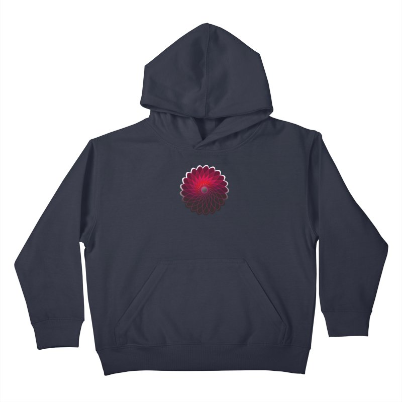 Red shining gyro Kids Pullover Hoody by fruityshapes's Shop