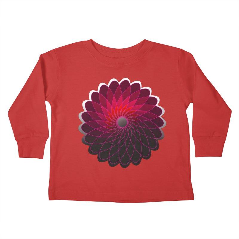 Red shining gyro Kids Toddler Longsleeve T-Shirt by fruityshapes's Shop