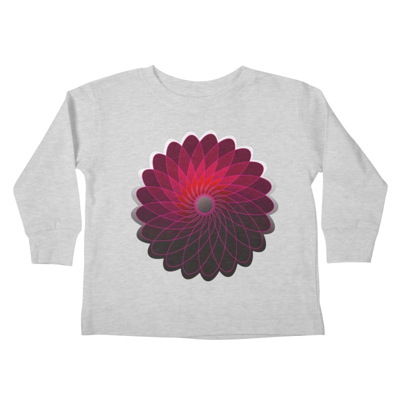 Red shining gyro Kids Toddler Longsleeve T-Shirt by fruityshapes's Shop