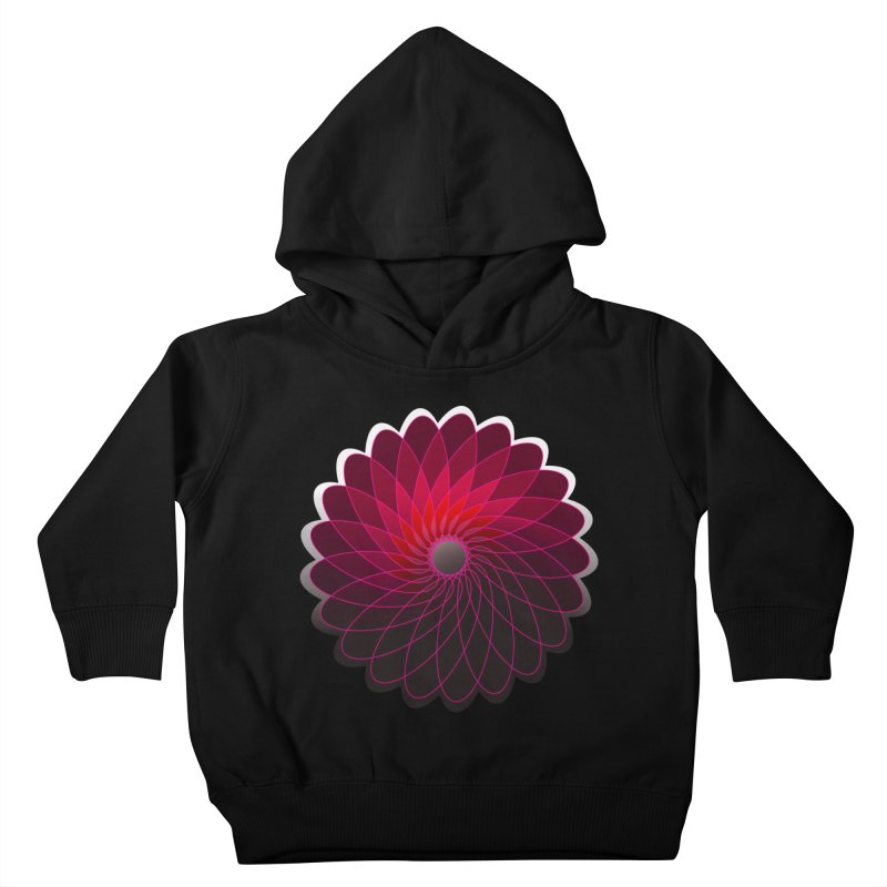Red shining gyro Kids Toddler Pullover Hoody by fruityshapes's Shop