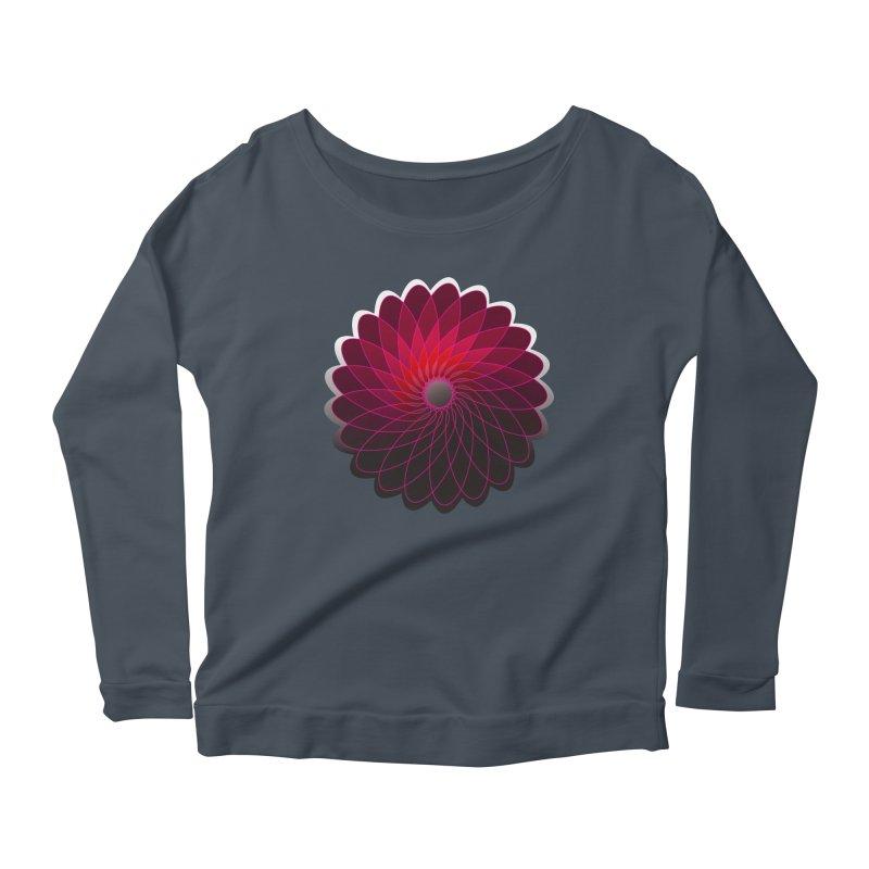 Red shining gyro Women's Scoop Neck Longsleeve T-Shirt by fruityshapes's Shop