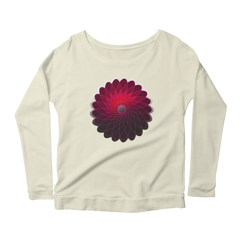 Red shining gyro Women's Scoop Neck Longsleeve T-Shirt by fruityshapes's Shop